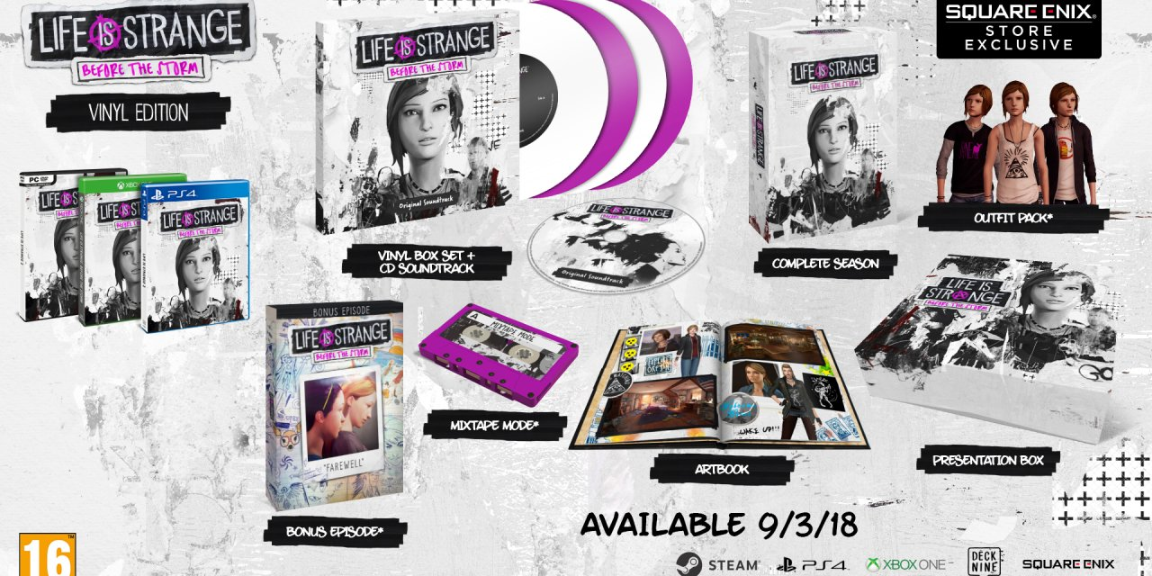 Life is Strange: Before the Storm Limited Boxed & Vinyl Editions Announced