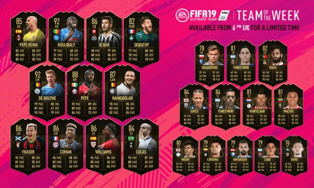 FIFA 19 TOTW 31